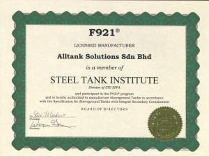 F921 Certificate